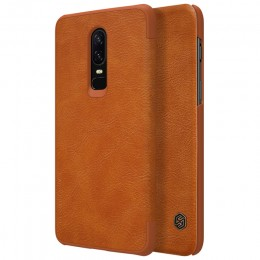 Чехол Nillkin Qin Leather Case для OnePlus 6 Brown (коричневый)
