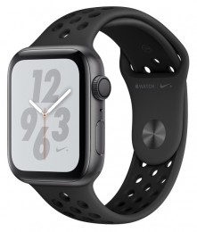 Apple Watch Series 4 GPS 44mm Space Gray Aluminum Case with Anthracite/Black Nike Sport Band (MU6L2)