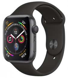 Apple Watch Series 4 GPS 44mm Space Gray Aluminum Case with Black Sport Band (MU6D2) Серый Космос/Черный