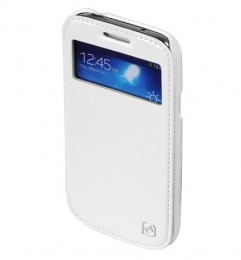 Чехол HOCO Leather Case Crystal View для Samsung Galaxy S4 i9500/9505 White с окном