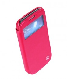 Чехол HOCO Leather Case Crystal View для Samsung Galaxy S4 i9500/9505 Rose с окном