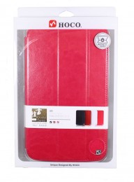 Чехол HOCO Crystal series Leather Case для Samsung Galaxy Tab3 8.0 T311/T310/T315 малиновый
