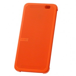 Чехол Dot View Flip Case (HC M110) для HTC One E8 оранжевый