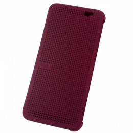Чехол Dot View Flip Case (HC M110) для HTC One E8 фиолетовый