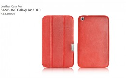 Чехол iCarer Leather Case для Samsungalaxy Tab3 8.0 T311/T310/T315 Red